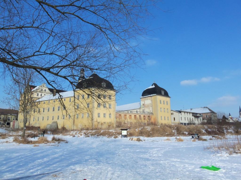 Das Schloss in Coswig im Winter